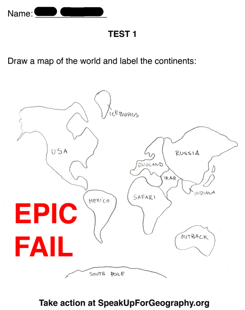 Bad Geography Test