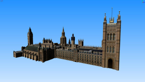 3d model houses of parliament