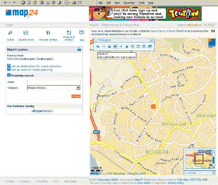 Mapquest Route Planner >> Trends in Web Mapping: It's all about usability