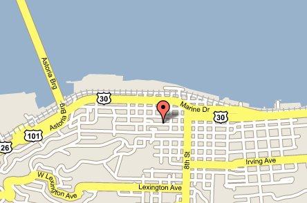Google Maps Map of Astoria, Oregon