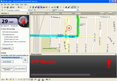 MapPoint-Off Route