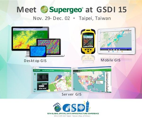 Supergeo Will Showcase Latest Geospatial Solutions at GSDI 15