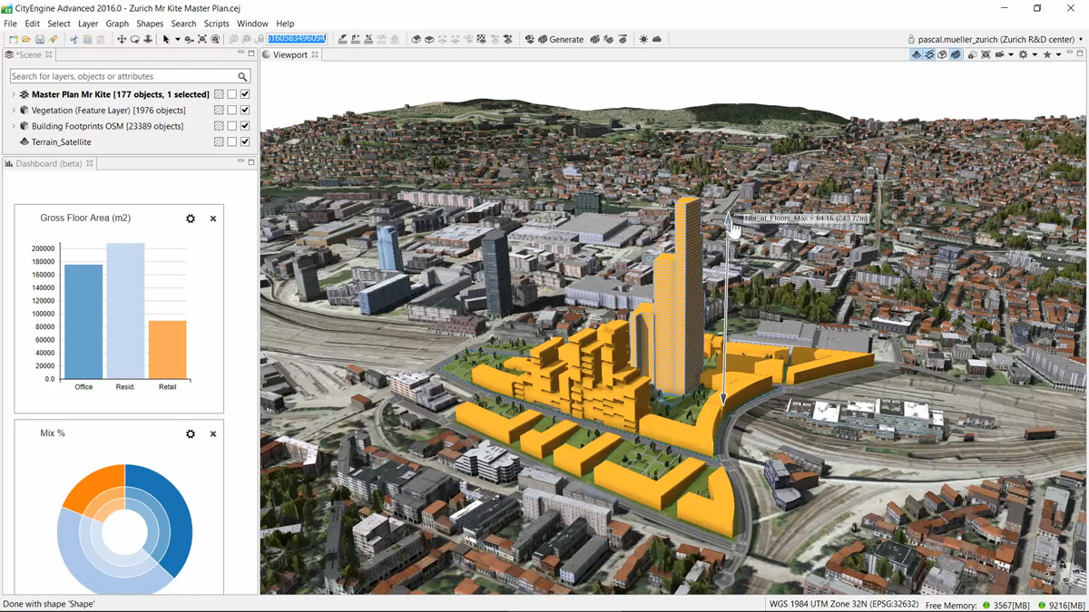 Build smart 3d cities in minutes with game changing esri cityengine 2016 publicscrutiny Gallery